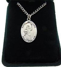 """St Brendan Deluxe Gift Set 1"""" Medal w/ Velour Gift Box Irish Saint of Ireland"""