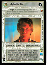STAR WARS CCG CLOUD CITY BLACK BORDER LIGHT SIDE RARE CAPTAIN HAN SOLO
