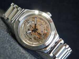 Swatch Watch Irony Mechanical Automatic UNCLE CHARLY YAS112 Swiss Steel Skeleton