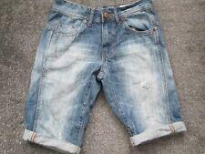 Denim & Co, Faded Blue, Zip Fly,Skinny Denim,Shorts Size 28 - 100% COTTON