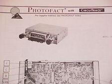 1974 PANASONIC AM-FM-MPX RADIO SERVICE MANUAL CR-701EU CHEVROLET FORD DODGE