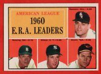 1961 Topps #46 ERA Leaders NEAR MINT/MINT PD Jim Bunning Detroit Tigers FREE S/H