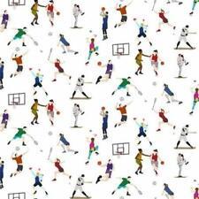 Indoor Sports Basketball Tennis White Cotton Fabric BTHY Digital Print