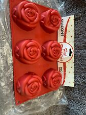 Floral Silicone Baking Molds 6 Molds Roses