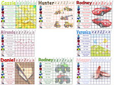 1 Kids Chore Chart Custom Chores with Pictures Dry Erase Board Boy & Girl Themes