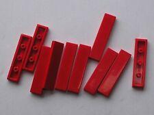 10 x LEGO tile Red 1 x 4 ref 2431 / Set 10196 7938 7937 7903 4895 6752 4534 6949