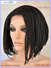 Lace Front Skin Top Braid Style Wig  Color #2 Hot Sexy Style USA Seller 1175