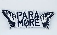 New Paramore Embroidered patch iron Sew on black white badge
