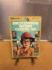 Encyclopedia Brown Carries on (Encyclopedia Brown (Paperback)) Sobol, Donald J.