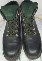 Blondo Canada Black/Green Leather Lace up Ankle Boots Womens Size 8 5095806W