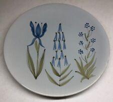 Rare Grande Assiette Roger Capron Vallauris Vintage Floral H 3 D 23,5 Cm N2