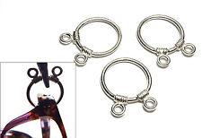 925 Sterling Silver Charm EyeGlass Holder Loop Jewelry Finding