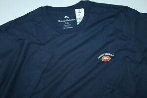 Tommy Bahama T Tee Shirt Marlin Logo Solid Navy Blue Crew Neck Extra Large XL