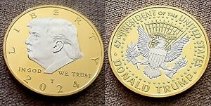 Donald Trump Gold & Silver Coin 2024 Next President of the United States America