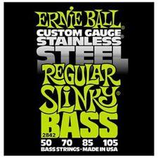 Ernie Ball 2842 Stainless Steel Regular Slinky Bass Guitar Strings 50 - 105