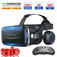 Pansonite VR Headset with Remote Controller 3D Glasses Virtual Reality Headset G