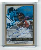 Ronald Acuna Jr 2020 Topps Gold LabeL Framed BLUE Auto #/50 SP Braves