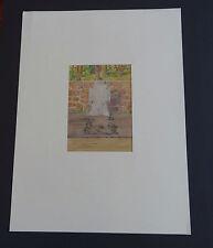 Orig. Zeichnung W. Morisse  Oldenburg IR 91 Soldaten  Friedhof Belgien Chatelet