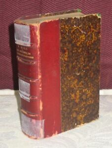 MINIATURE 3/4 LEATHER 2 VICTOR HUGO POEMS LES ORIETALES 1889 IN FRNECH 9/16