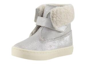 Polo Ralph Lauren Toddler Girl's Siena Silver Metallic Booties Shoes