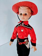 "11"" Uneeda Bob Cowboy Doll in red w. Accessories"