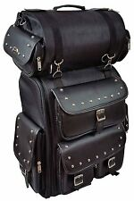 Vance Leather Large Studded 2 Piece Sissy Bar Bag with Backpack