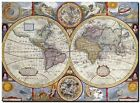 """Old World Map 1627 CANVAS PRINT 24""""X18"""" Vintage Antique Poster"""