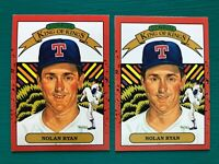 1990 Donruss NOLAN RYAN Diamond Kings Error & Corrected Backs Baseball Card Lot