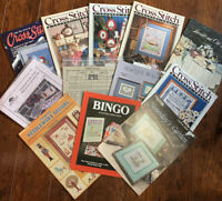Cross Stitch & Country Crafts Magazines + Assorted Cross Stitch Charts
