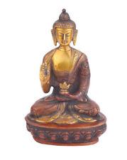 "Brass Buddha Statue Housewarming Thanksgiving Christmas Gifting Showpiece 8"""