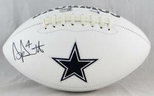 Dak Prescott Autographed Dallas Cowboys Logo Football- Beckett Auth *Black