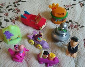 Burger King Kids Meal 8 Flintstones Toys Fred Dino Cars Spaceship