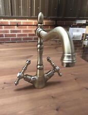 Antique Brass Bronze Kitchen Taps - Swivel Spout Ideal Belfast Sink - Lovely