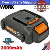 Replace for Worx 3.0Ah 20V Lithium Battery WG546 WA3525 WA3520 WA3575 Cordless