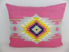 "Designer Andrew Martin Cruz Pink Velvet Fabric Cushion Cover 20"" x 16"" Geometric"