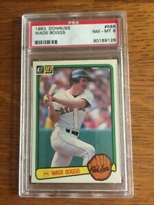 Wade Boggs 1983 Donruss Rookie card graded PSA 8 Boston Red Sox Hall of Fame