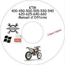 KTM 400-450-500-505-530-540-620-625-640-660 - Guida d'Officina - Riparazione!