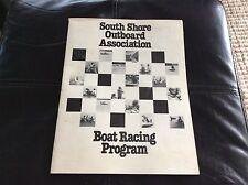 Vintage 1978 South Shore Outboard Association Boat Racing Program Massachusetts