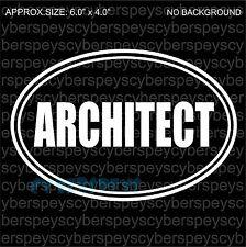 Architect Art Design Car Vinyl Sticker Decals