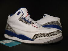 Nike Air Jordan III 3 Retro WHITE TRUE BLUE CEMENT GREY FIRE RED 136064-104 8.5