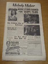 MELODY MAKER 1955 JANUARY 29 ALMA WARREN CINEMASCOPE GUS ARNHEIM LITA ROZA +