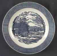 Royal (USA) CURRIER & IVES BLUE Chop Plate (Round Platter) 5979124
