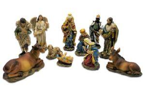 Set 11 Krippenfiguren Krippe Weihnachten bis 14,5 cm Josef Maria Jesus Figur