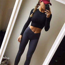 Womens Yoga Workout Gym Leggings Fitness Running Sports Pants Stretch Trouser