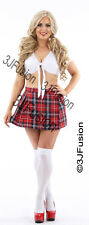 SEXY Naughty School Girl Fancy Dress Costume Outfit Secretary FREE POST (BY)