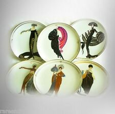 Porcelain glamour plates  Franklin Mint - gold accents FREE SHIPPING
