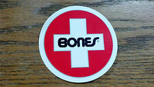 "BONES, VERY COOL, Skateboard Sticker, 3"" , RED, WHITE, BLACK & SILVER"