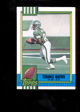 1990 Topps TERANCE MATHIS New York Jets Atlanta Falcons Rookie Update Card