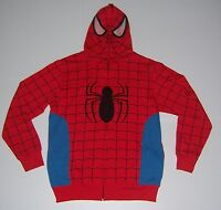 MARVEL SPIDERMAN MEN'S COSTUME HOODIE JACKET WITH FULL MASK VARIOUS SIZES  NWT!
