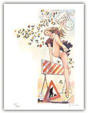 Affiche BD Milo MANARA Filles et Voitures Donne e Motori 11 signé 200ex 30x40 cm